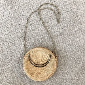 & Other Stories Straw Circle Crossbody Bag